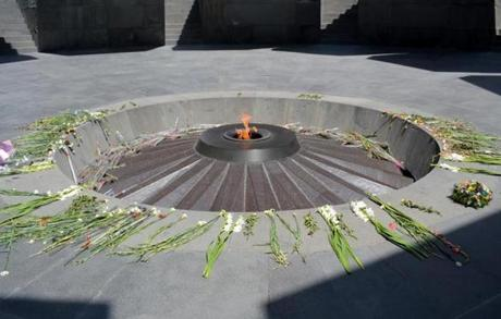 29armenia - Eternal flame. (Juliet Pennington for The Boston Globe)